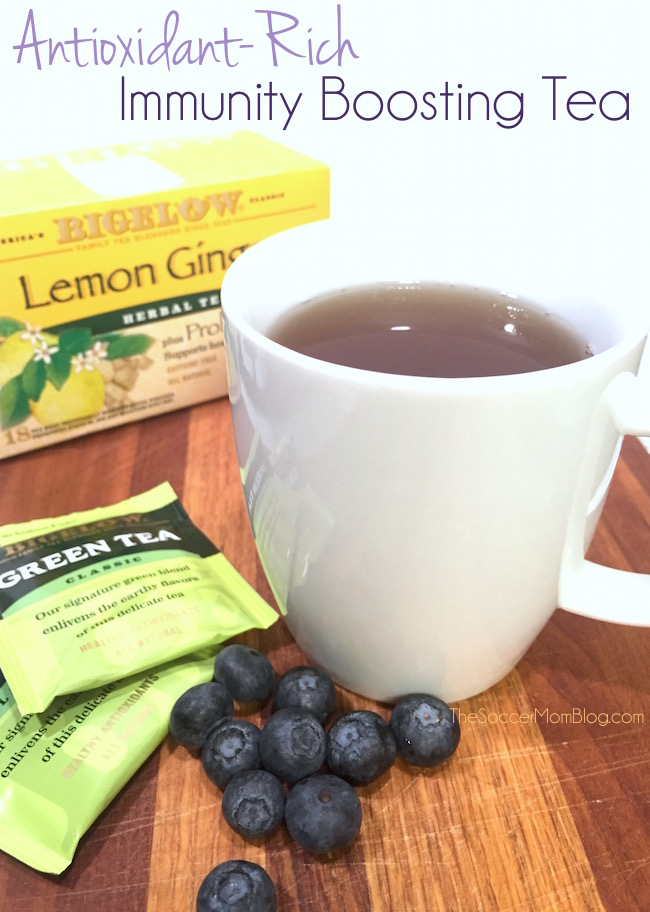 Blueberry Lemon Immunity Boosting Tea