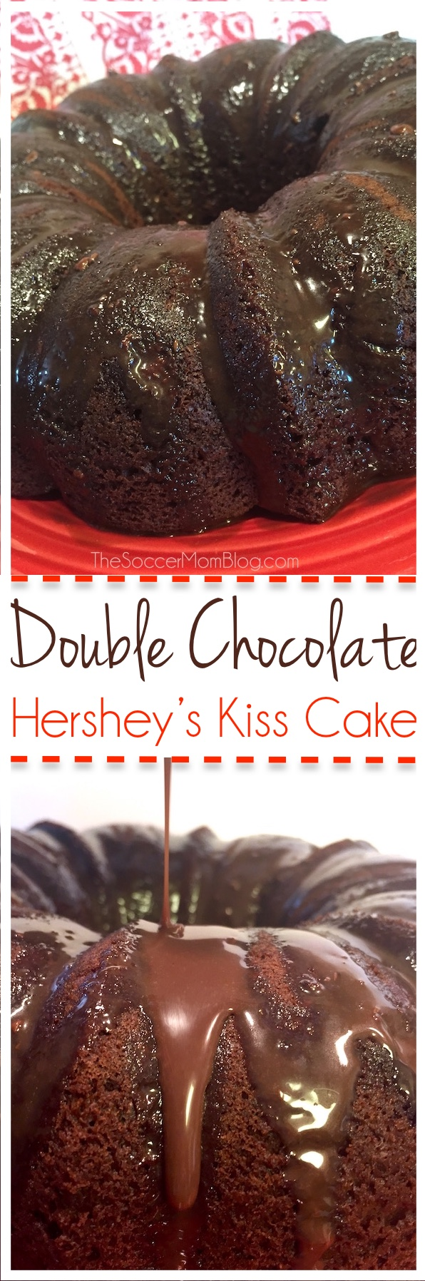 This Double Chocolate Hershey's Kiss Cake is a Chocoholic's Dream