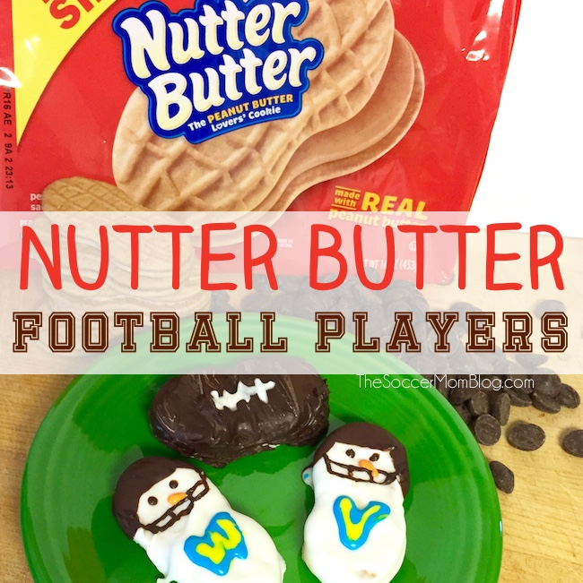 Nutter Butter Snowmen Football Player Cookies