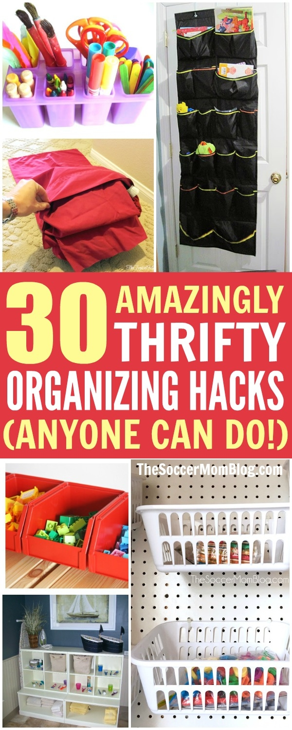 Getting the house in order doesn't have to be a chore! These are the best, easiest, and thriftiest organization hacks from around the web!