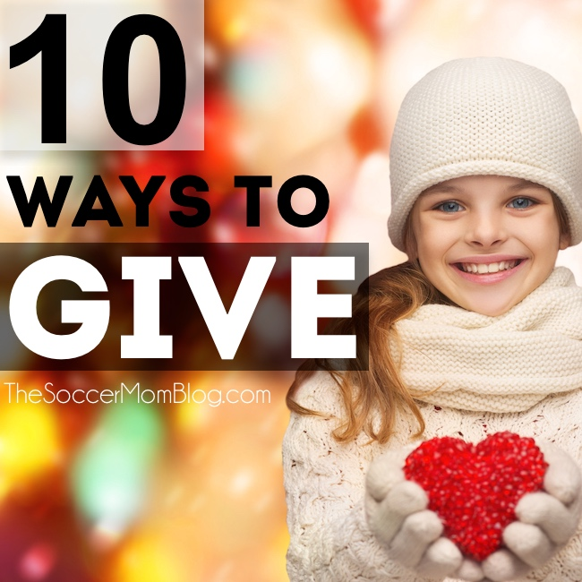 Ideas for you and your family to give back during the holidays, plus a wrap-up of the First Annual Soccer Mom Blog Toy Drive.