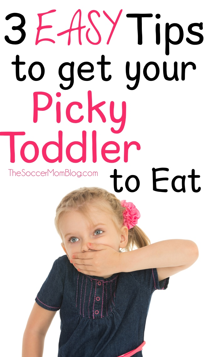 Tried and true ways to get a picky toddler to eat real healthy food -- these tips are simple and really work to get through the picky eating phase!
