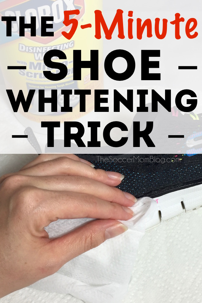 Forget pricey cleaners and special brushes that shoe stores will try to sell you! Quickly and easily whiten shoe soles with a surprising household item!