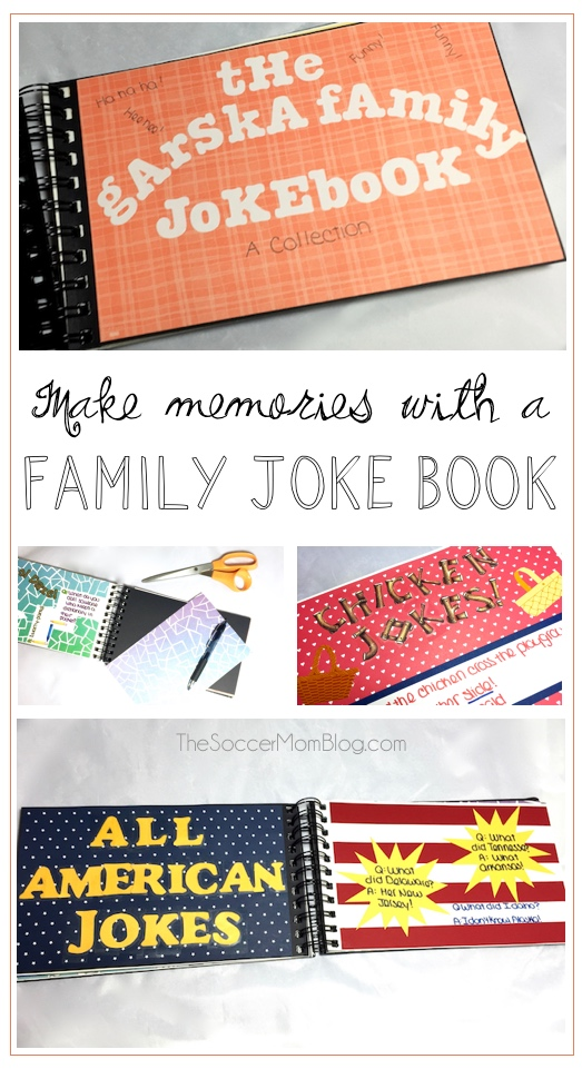 How to create lasting memories with a family joke book -- a fun activity for National Cheese Lover's Day or any time!