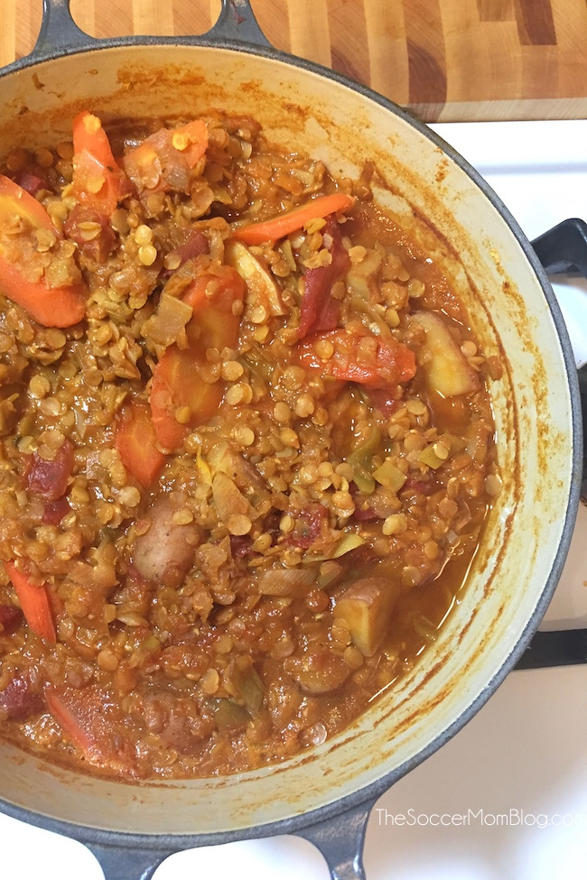 This heart healthy vegetarian Greek Lentil Soup is an easy, one-pot meal that is so flavorful and satisfying you'll never miss meat! (Seriously, it's that good!)