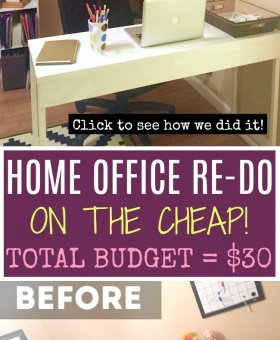Home Office Organization on the Cheap — Under $30!