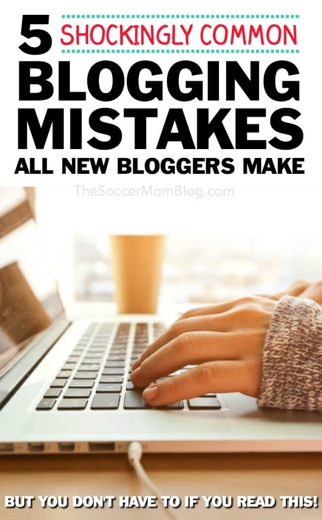 Starting a blog? READ THIS FIRST!! We're breaking down 5 shockingly common beginner blogging mistakes & how to set YOUR new blog up for success right away!