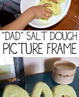 """DAD"" Salt Dough Picture Frame"
