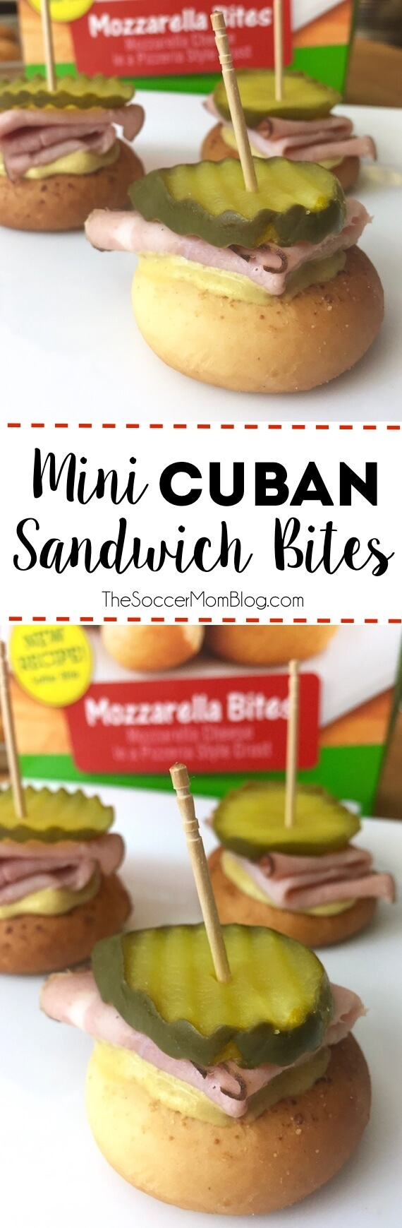 All the flavors of a Cuban sandwich in one tasty bite! Mini Cuban Sandwich Bites are the perfect game-day appetizer - easy to make & virtually mess-free!