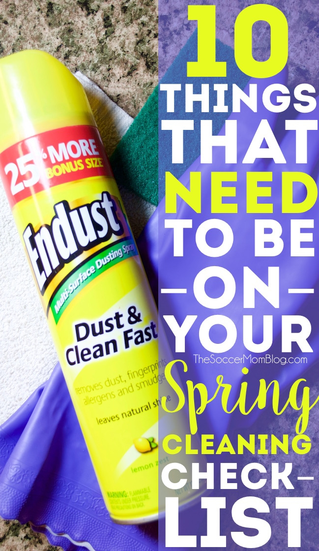 Making a spring cleaning checklist? Make sure you've got these 10 often-forgotten things on your list for a spotless, clean, and healthy home!