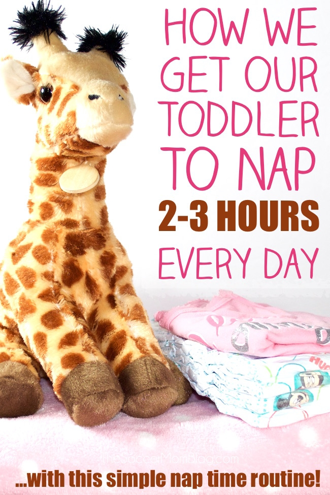 How we get our toddler to take 2-3 hour naps (every single day!) and look forward to it! A simple toddler nap routine that really works!