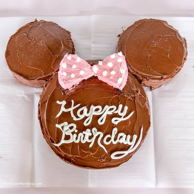 Cute Easy Minnie Mouse Cake Birthday Party Ideas