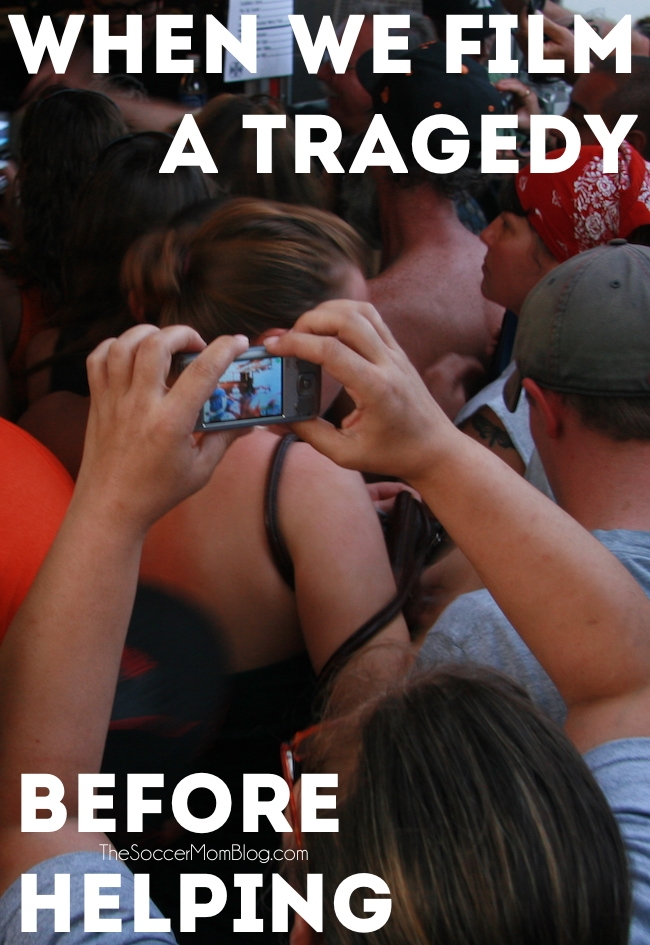 We have become a nation of amateur news reporters, with bystanders pulling out their phones to film a tragedy...before helping.