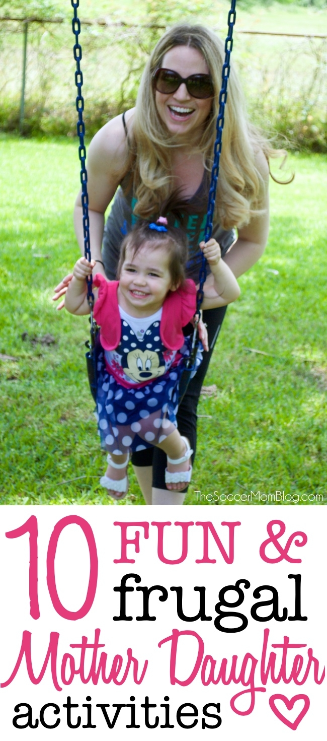 Simple ways to spend time with your little one-- these mother daughter activities won't cost a fortune, but will provide hours of fun and lasting memories!