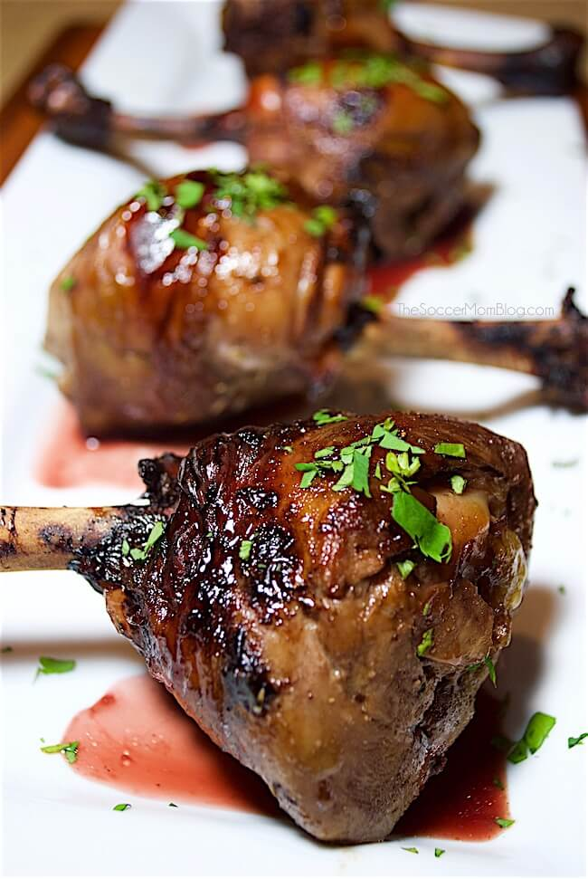 Chicken Lollipops with Pomegranate Glaze