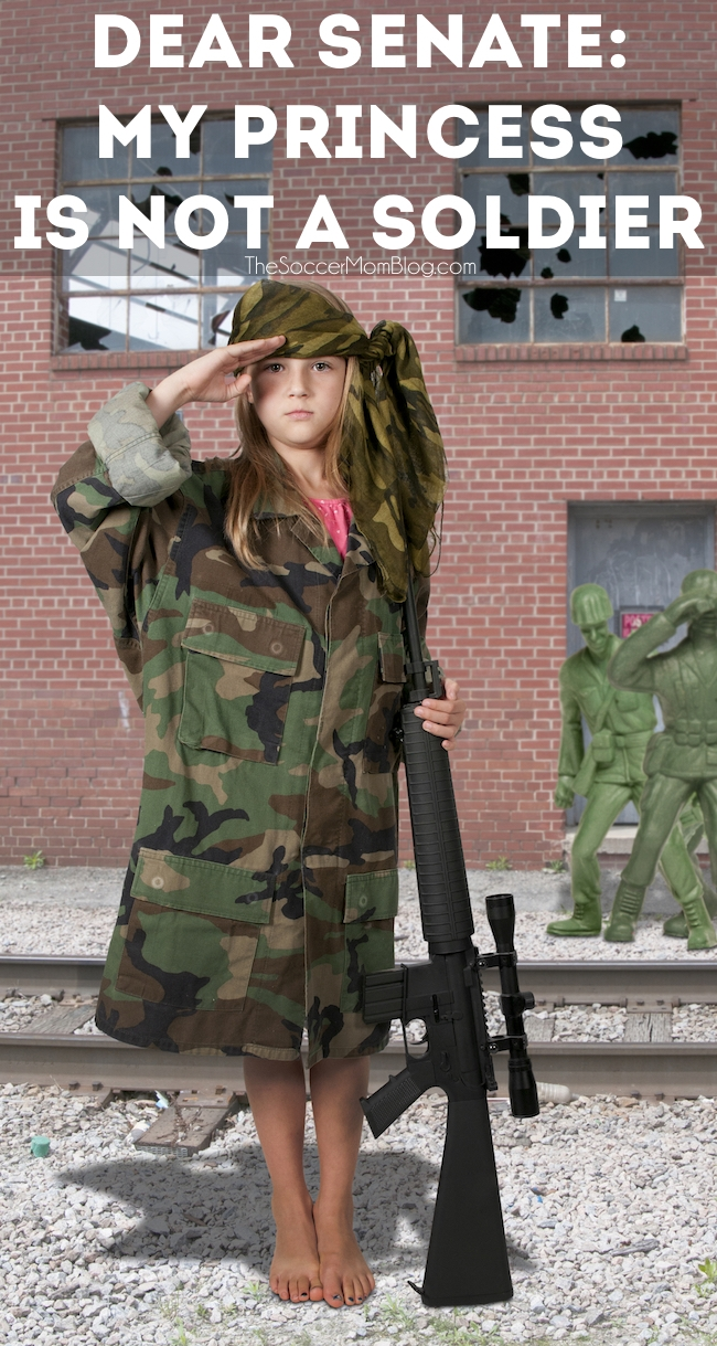 Parents of daughters: listen up. Right now, Congress is debating whether or not to have female conscription -- our daughters in the draft. Why I'm against it.