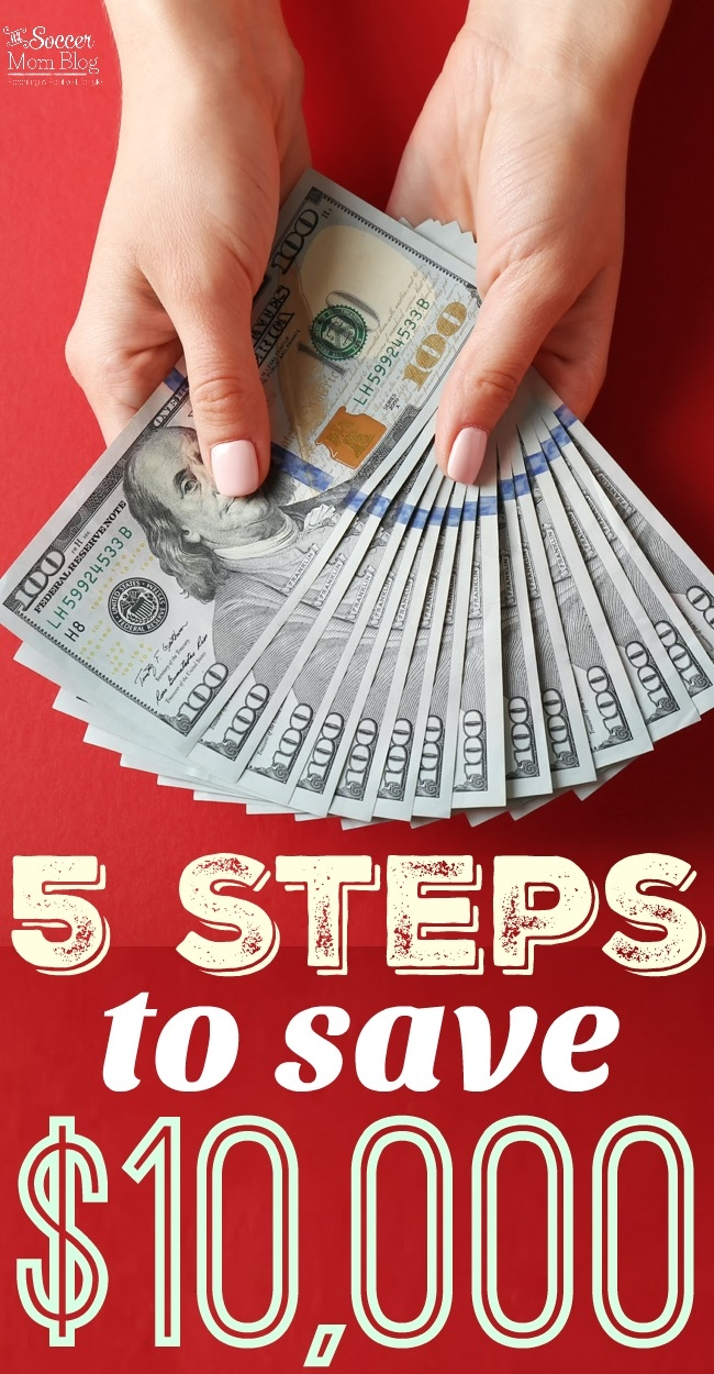 Saving $10,000 is easier than you think with 5 proven steps to save money. Plus 5 budget plans from top family finance bloggers!