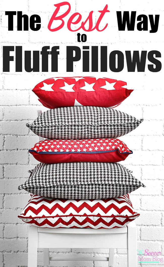 A review of some of the most commonly suggested methods to fluff pillows. One method stood out as easy and practical, with heavenly-smelling results!