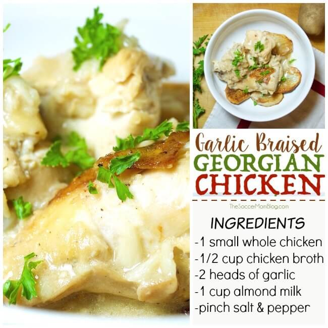 Rich garlic aromas mingle with delicate creamy milk in this simple, yet hearty dish - Georgian chicken is a classic for a reason!