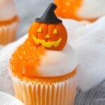 Halloween themed orange cupcakes