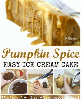 EASY Pumpkin Spice Ice Cream Cake