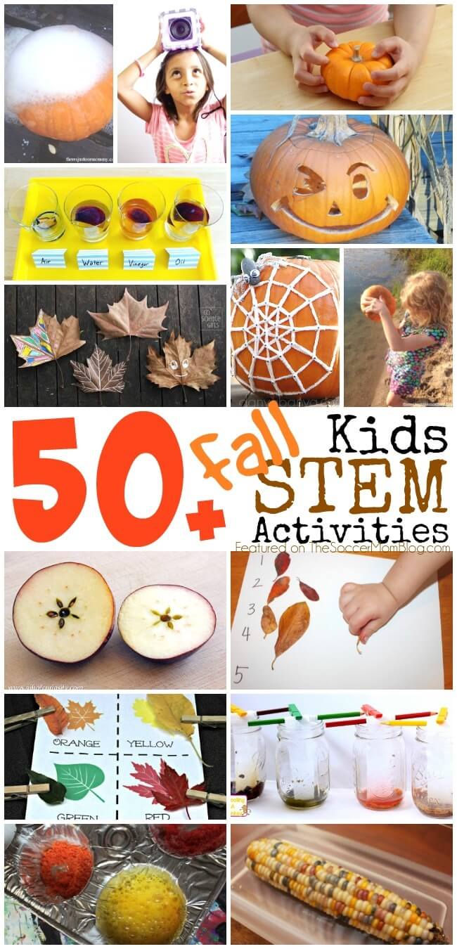 Forget worksheets!! Make learning fun & enrich your child's education with over 50 Fall-themed STEM activities! Explore the season with pumpkins, apples, leaves, and more!