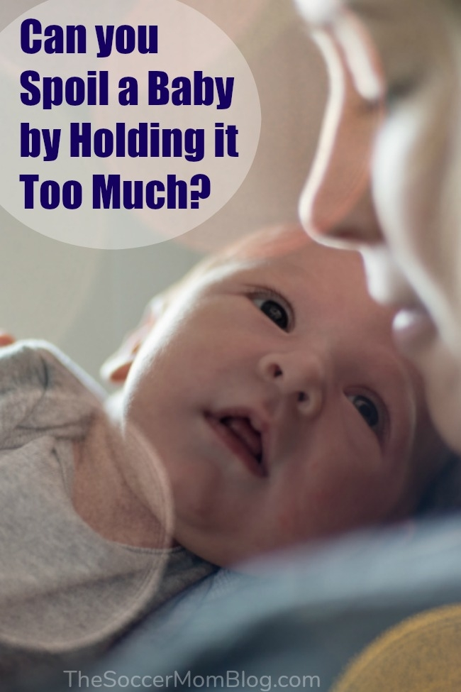 """It's natural to wonder, """"can you spoil a baby by holding it too much?"""" Here's why science says you can't spoil a baby and why babies need touch."""