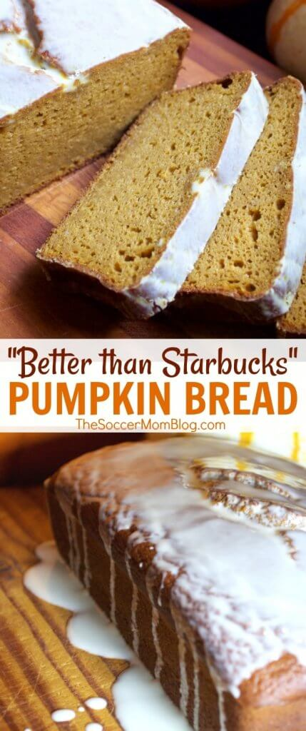 The best homemade pumpkin bread - just like Starbucks pumpkin pound cake...only better! (and gluten free!)