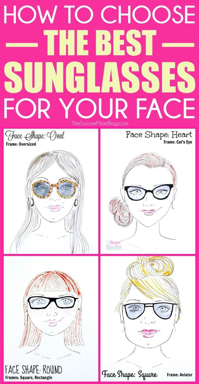 a3dceb8fe43 Find the best sunglasses for your face shape with this easy visual guide. 4  common