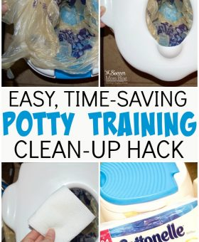 Easy Potty Training Cleaning Hack