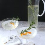 """Move over Mimosas! This Rosemary Orange Vodka Spritzer is the new fizzy """"IT"""" drink in town! A refreshing brunch or holiday cocktail with only 3 ingredients."""