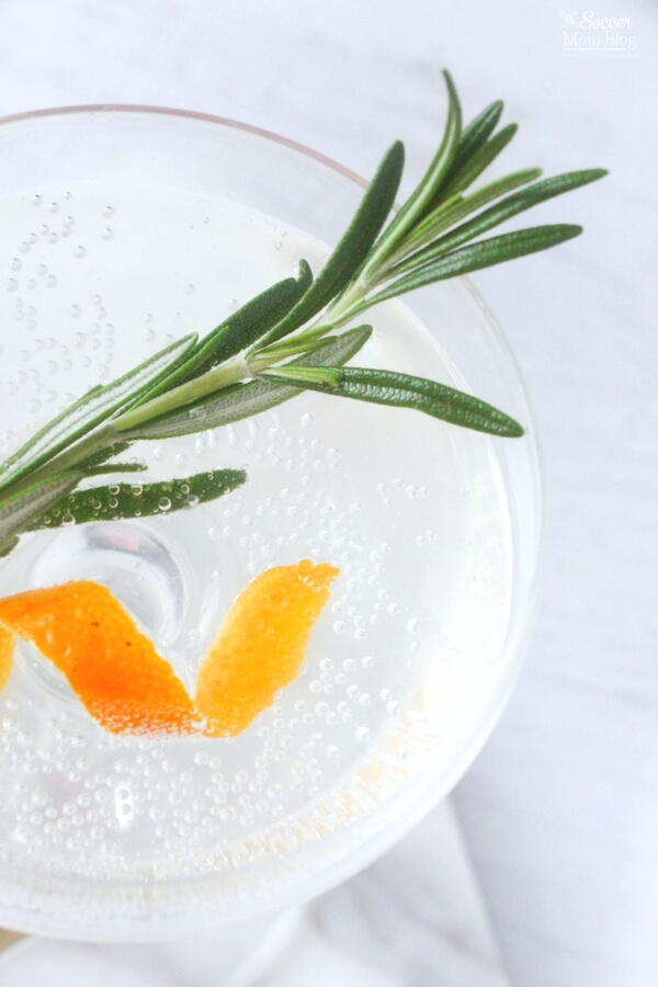 Move over Mimosas! This Rosemary Orange Vodka Spritzer is the new fizzy
