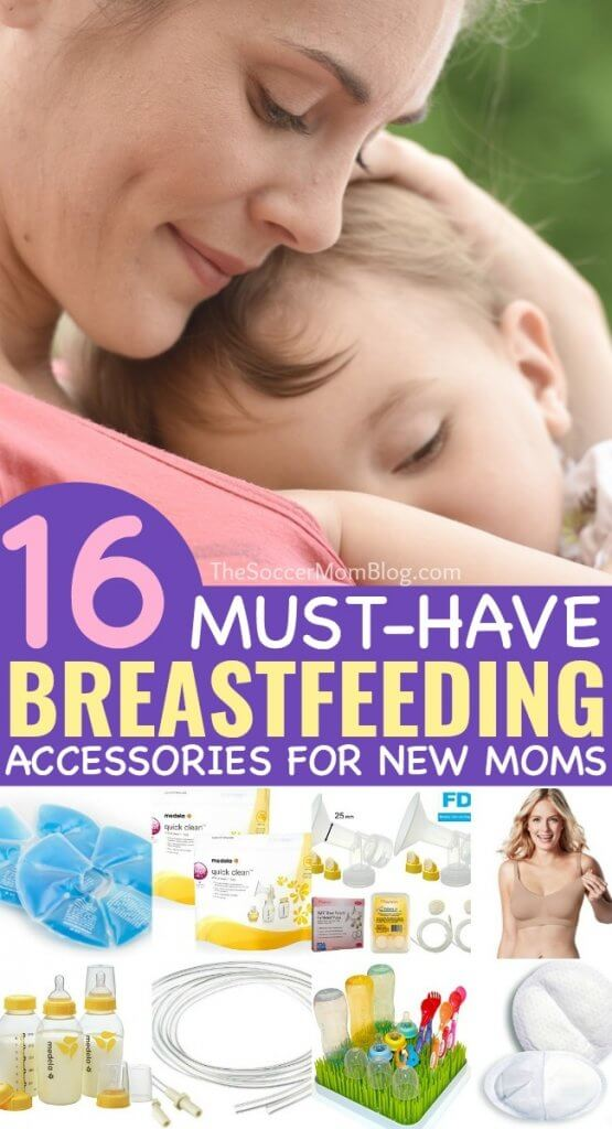 A comprehensive list of the must-have breastfeeding products and pumping accessories to make things easier. Perfect gift ideas for new moms!