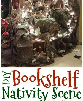 DIY Bookshelf Nativity Scene (Video Tour)
