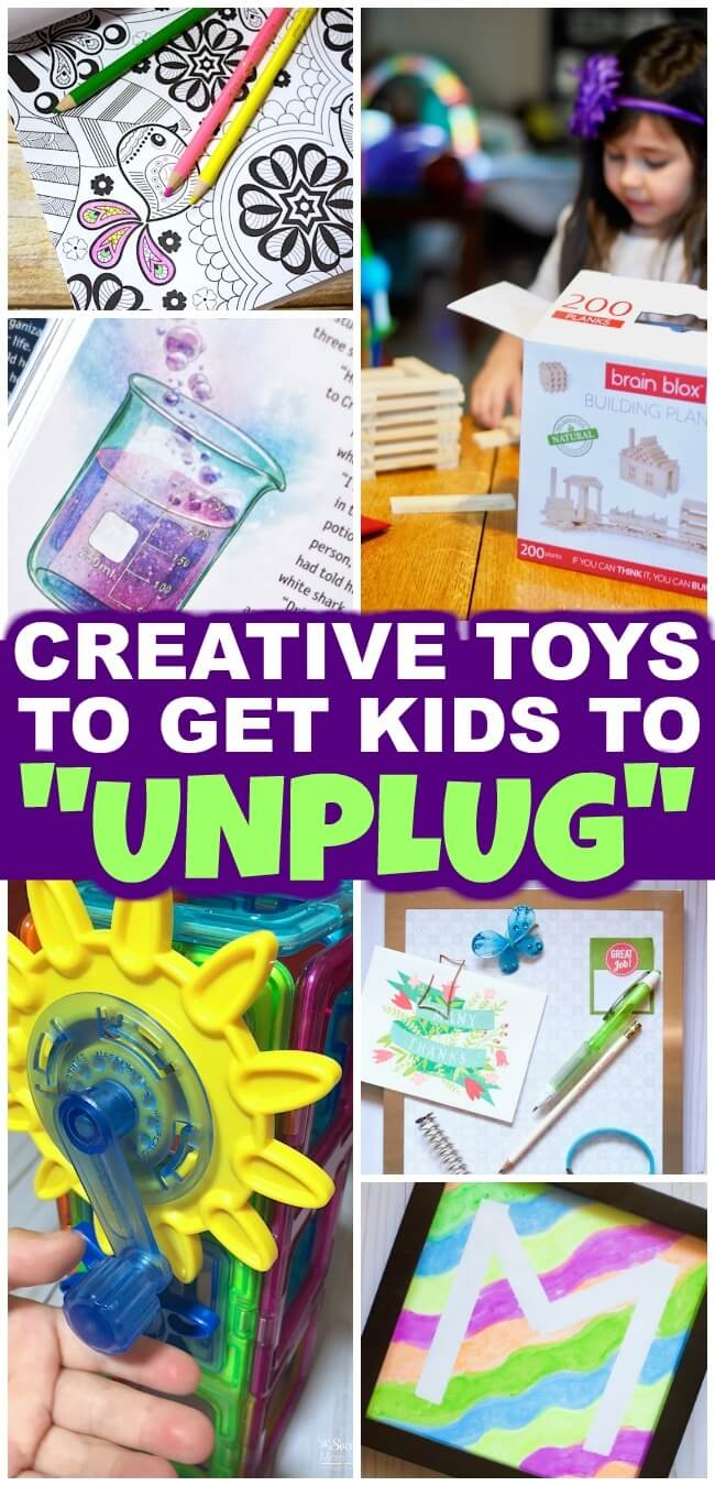 Get your kids to unplug and let their imaginations run wild with these creative kids toys and books! Tried and tested, these are some of our family's favorite things: from art, to building, to books!