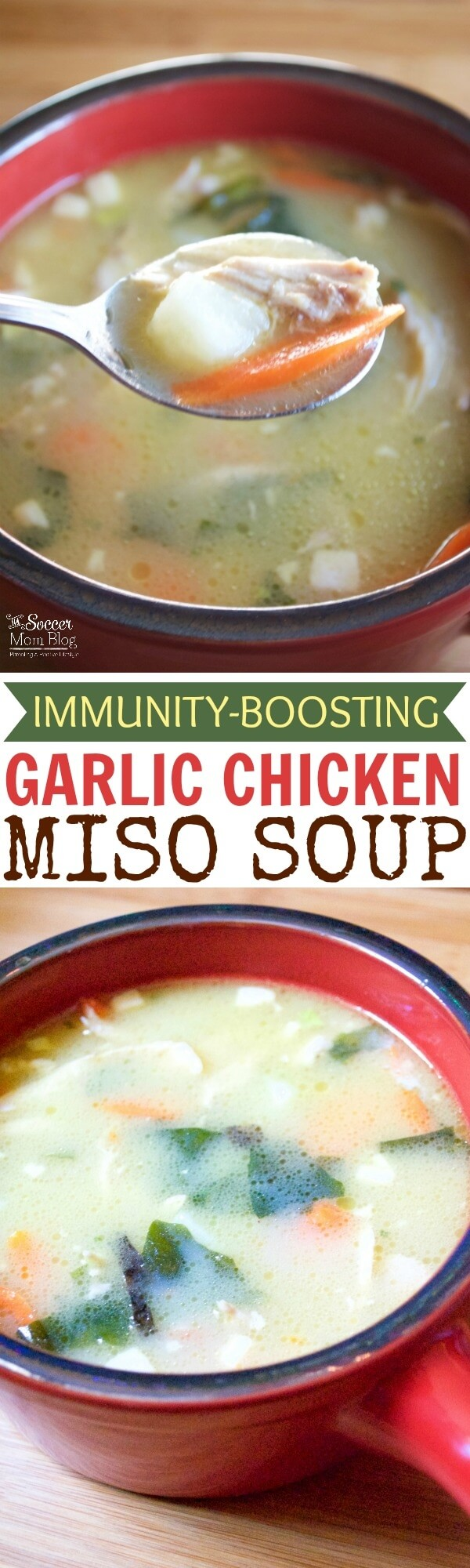 This ain't your grandma's chicken soup! Immunity boosting Garlic Chicken Miso Soup is flavor packed, nutrient dense, and kid-approved!