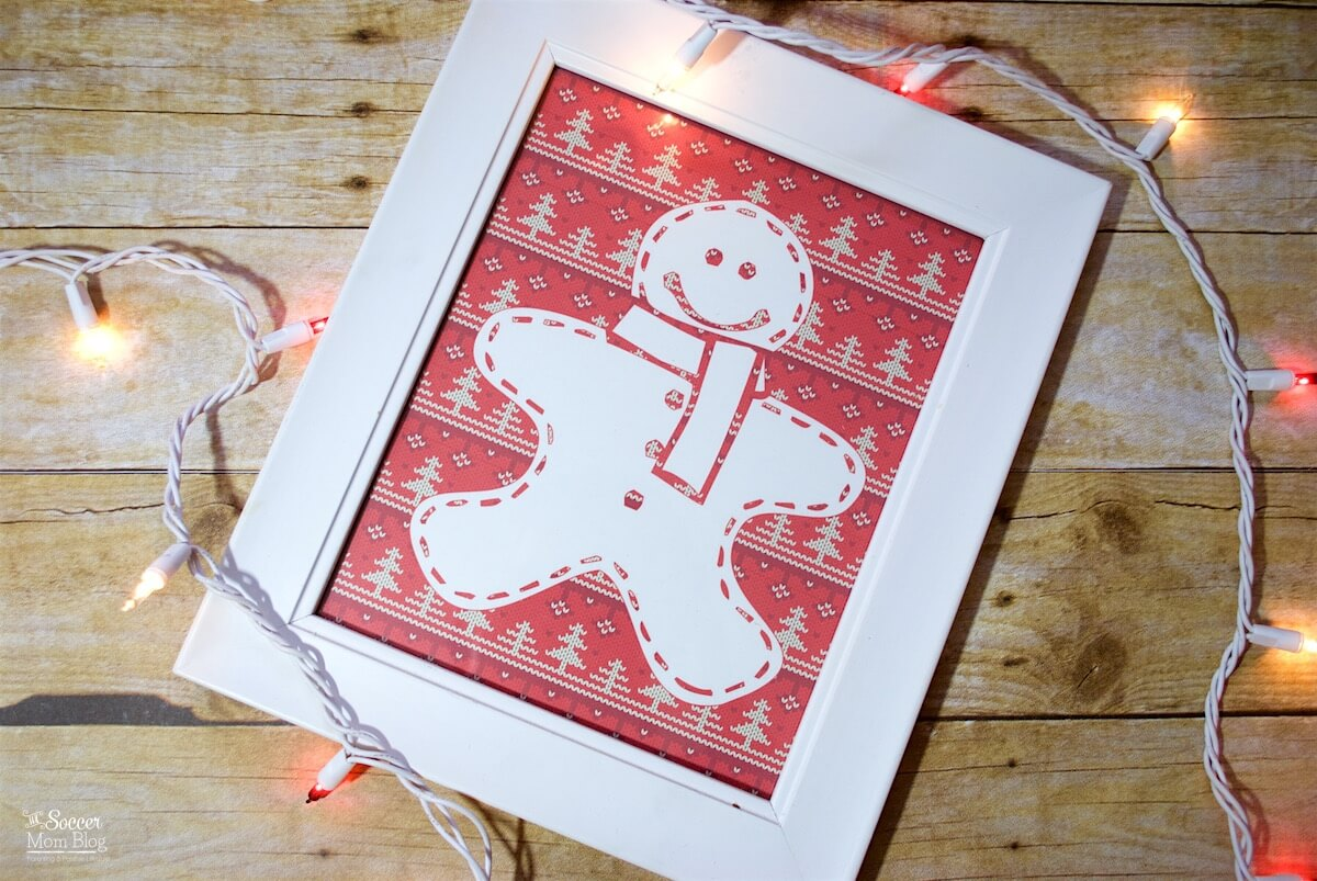 Add a fun & funky touch to your holiday party decor with FREE Printable Ugly Christmas Sweater Wall Art! Simply print and frame for quick, easy decorations.