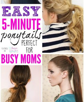 Brilliant 5 Minute Ponytail Ideas for Busy Moms