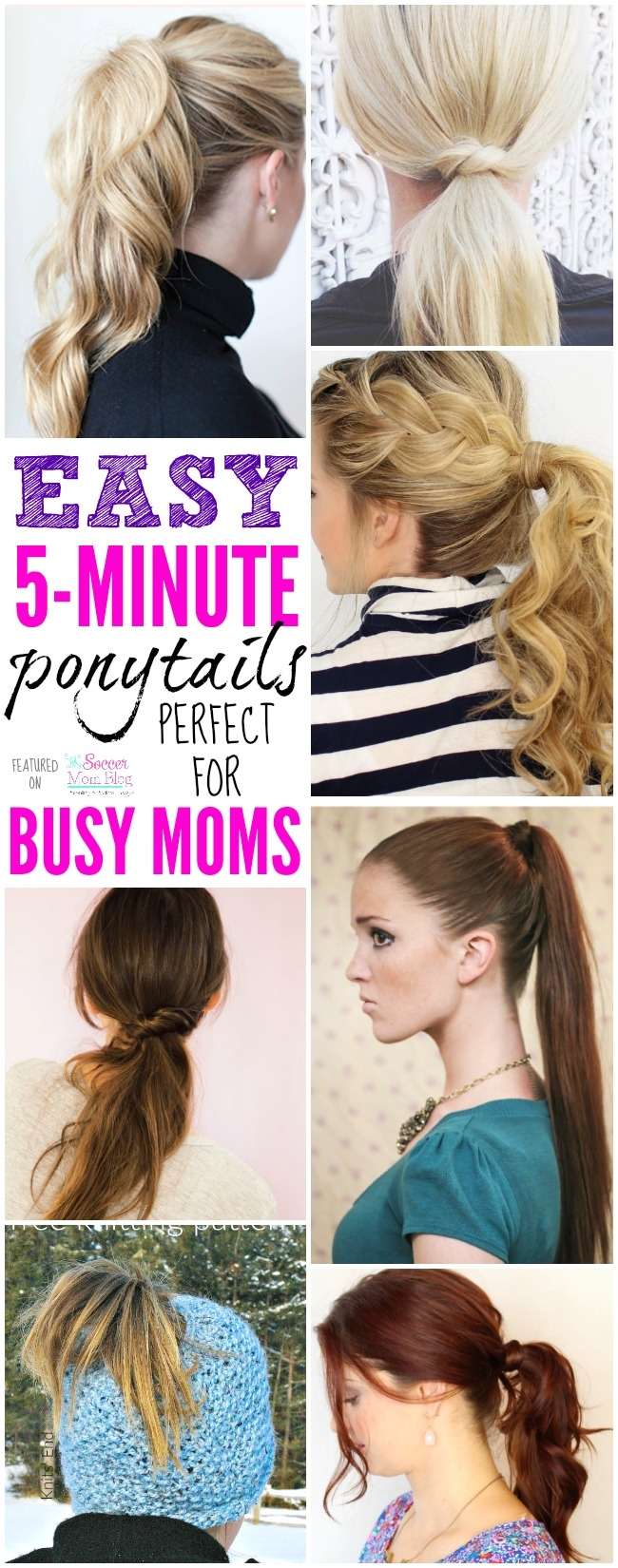 What mom has hours to spend fixing hair?! These 5 minute ponytail hairstyle ideas are perfect for busy moms and might just change your life!