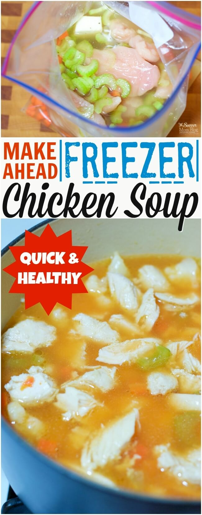 Save a ton of time and money with this easy meal prep chicken soup! A comfort food classic perfect to make ahead for busy weekdays (5 min prep!)