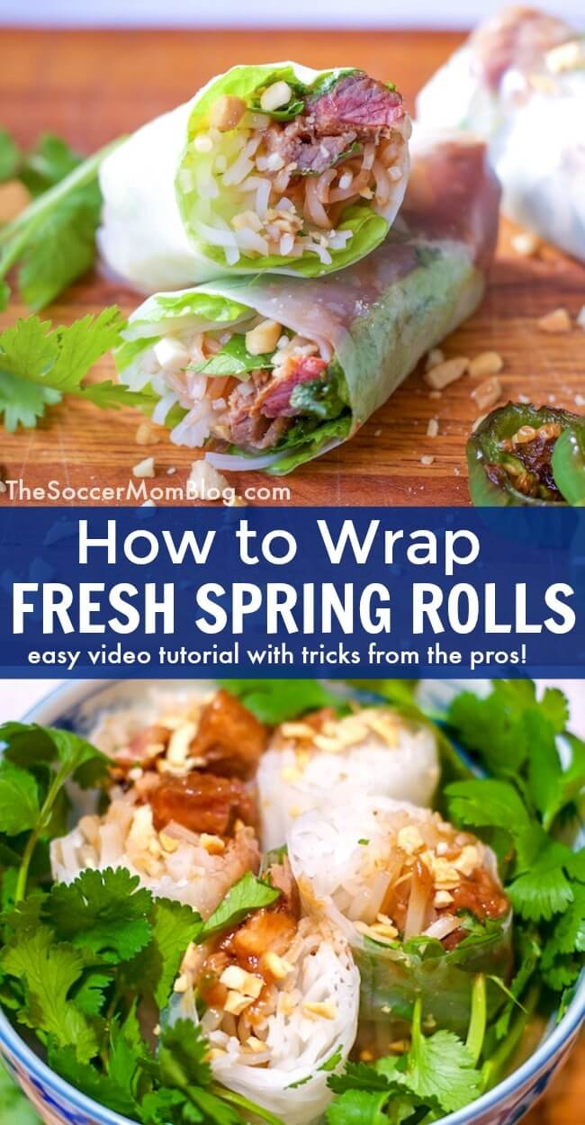Think Vietnamese Spring Rolls are tricky to make? Think again! Watch our video demo to learn how to roll fresh spring rolls, plus we have a photo step-by-step Vietnamese Spring Roll recipe too! One of our favorite fresh appetizer recipes!