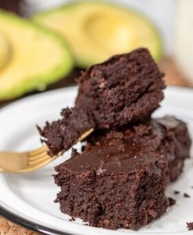 Easy Fudgy Chocolate Avocado Brownies