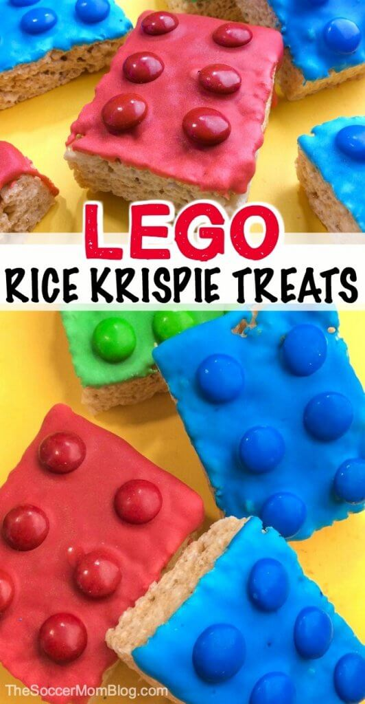 Looking for a fun recipe to make with the kids while they're at home? These cool and colorful LEGO Rice Krispie Treats are a must for any LEGO fan!