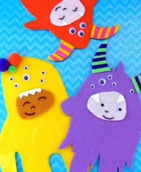 Kids Felt Craft Monsters
