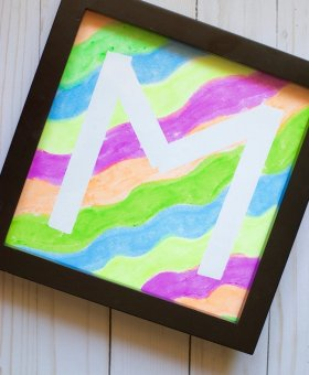 Mess Free Painting: Kid's Initial Tape-Resist