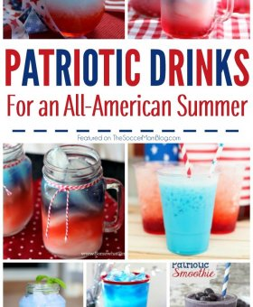 4th of July Drinks – Red White and Blue Cocktails w/ 5 ingredients or Less!!