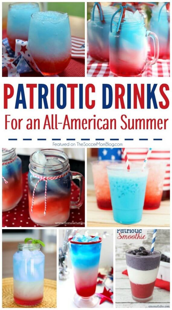 These festive 4th of July drinks make the perfect addition to your holiday celebration! So many fun and tasty treats in this collection of gorgeous red white and blue cocktails!