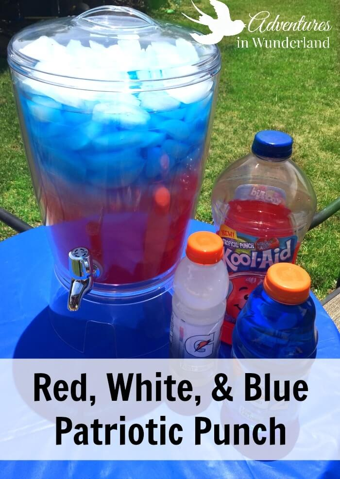 4th of July patriotic punch