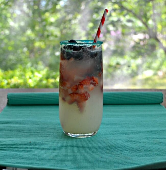 red white and blue lemonade