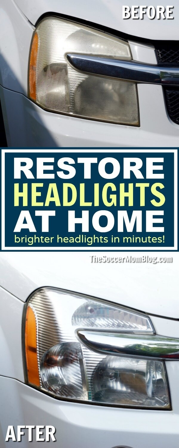 Dim or yellow headlights make it harder to see the road at night. Make your